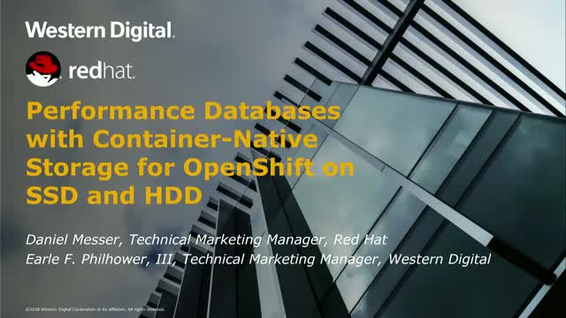 Performance Databases with Container-Native Storage for OpenShift on SSD & HDD