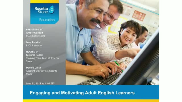 Engaging and Motivating Adult English Learners