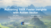 Achieving 100X Faster Insights with Actian Vector