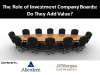 The Role of Investment Company Boards: Do They Add Value?