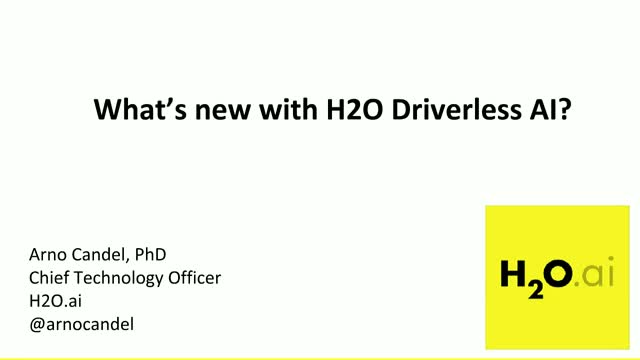 What's new with H2O Driverless AI?