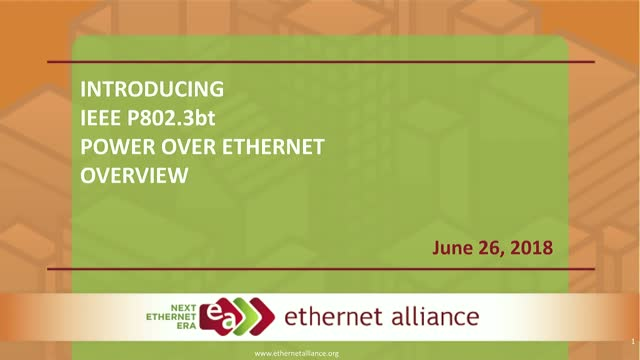 Introducing IEEE 802.3bt™ Power over Ethernet