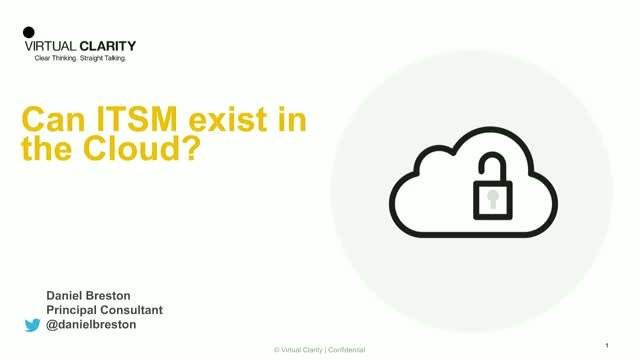 How Can ITSM Exist in the Cloud?
