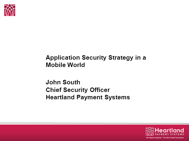 Application Security Strategy in a Mobile World