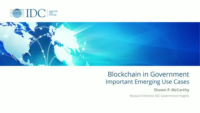 Blockchain in Government: Important Emerging Use Cases