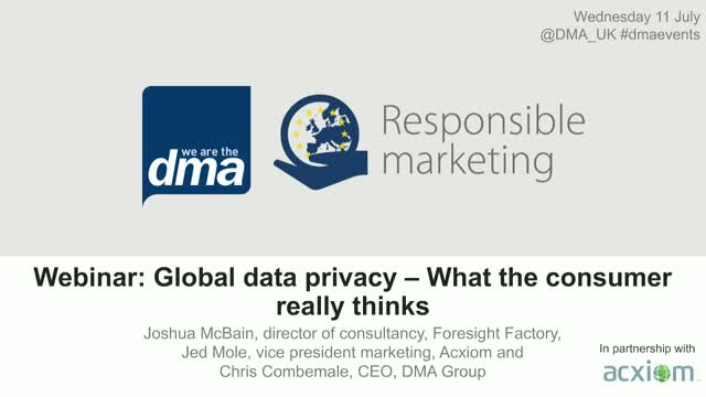 Webinar: Global data privacy – What the consumer really thinks