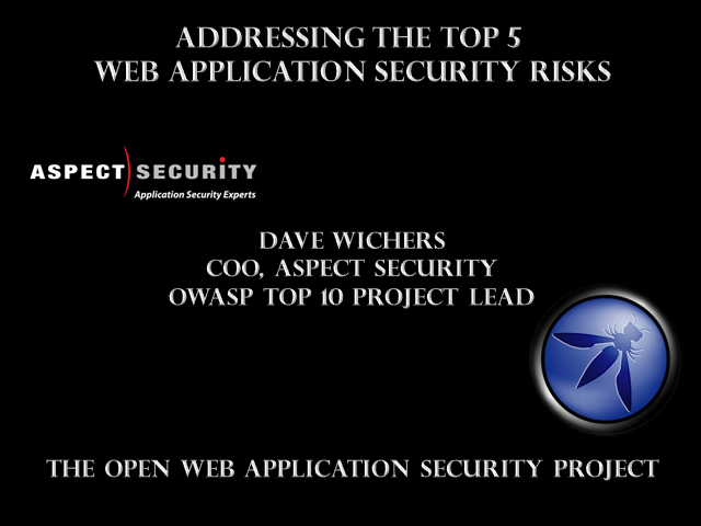 Addressing the Top 5 Web Application Security Threats