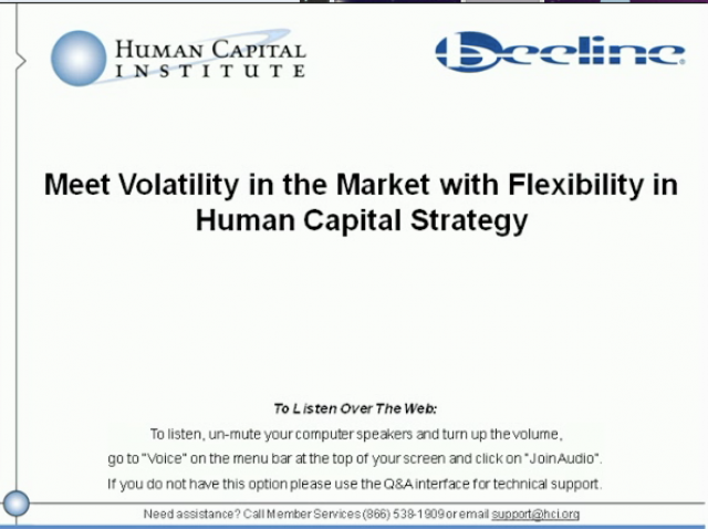 Meet Volatility in the Market with Flexibility in Human Capital