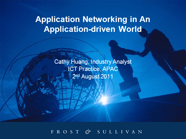 Application Networking in an Application-Driven World