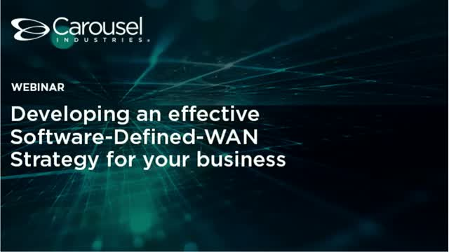 Developing an effective Software-Defined-WAN Strategy for your business