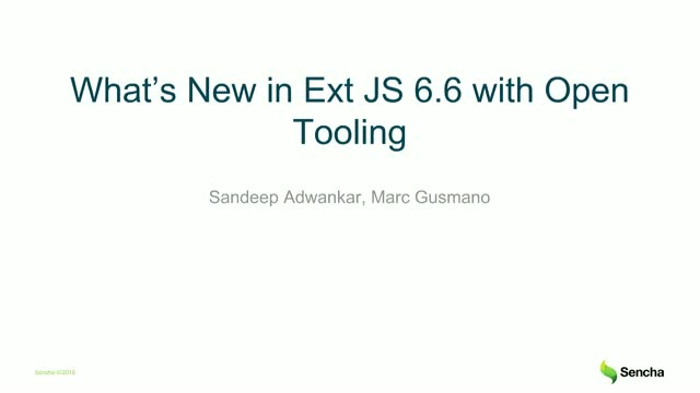 Learn What's New in Sencha Ext JS 6.6 with Open Tooling