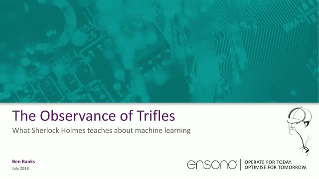 Observation of Trifles - Sherlock Holmes' Lessons on Machine Learning & Security