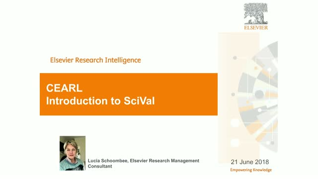 CEARL Introduction to SciVal