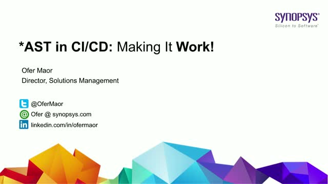 *AST in CI/CD - How to Make it Work
