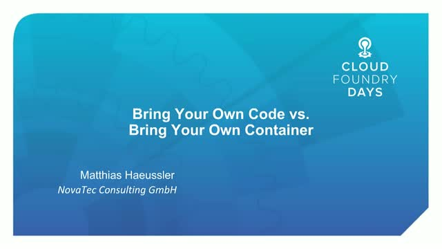 Bring Your Own Code vs. Bring Your Own Container