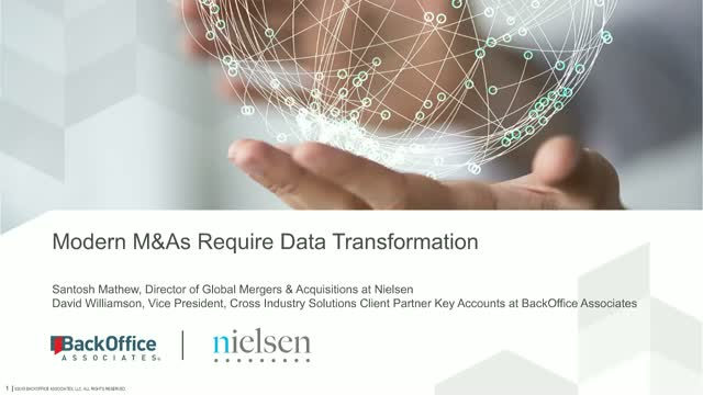 Modern M&As require data transformation