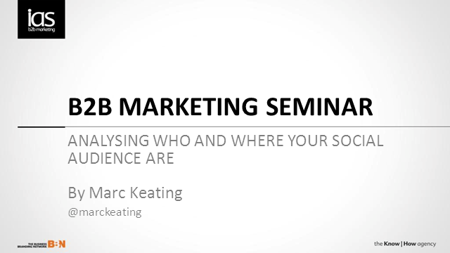 Webcast: Analysing who and where your social audience are