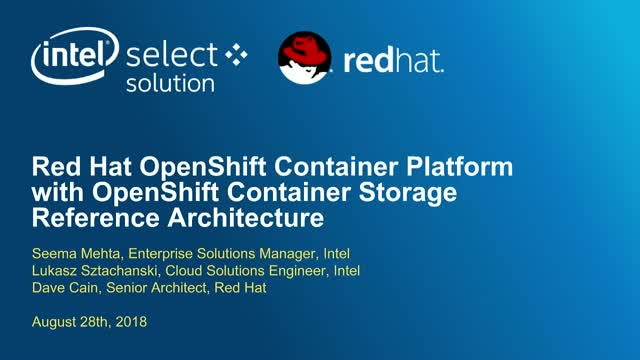 Red Hat OpenShift Container Platform w/OpenShift Container Storage RA