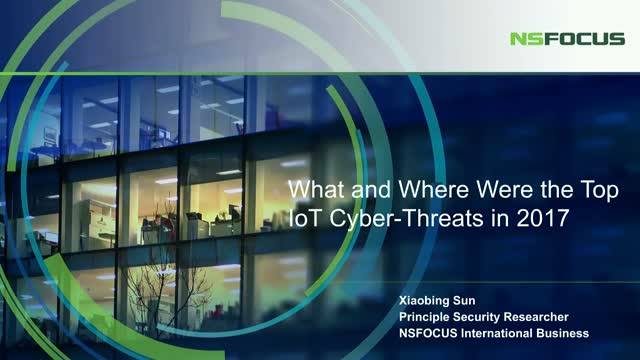 What and Where Were the Top IoT Cyber-Threats in 2017?