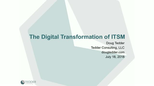 The Digital Transformation of ITSM - AI, Automation and NLP