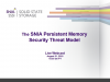 The SNIA Persistent Memory Security Threat Model