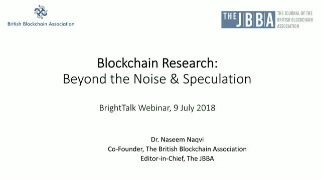 Blockchain Research - Beyond the Noise and Speculation