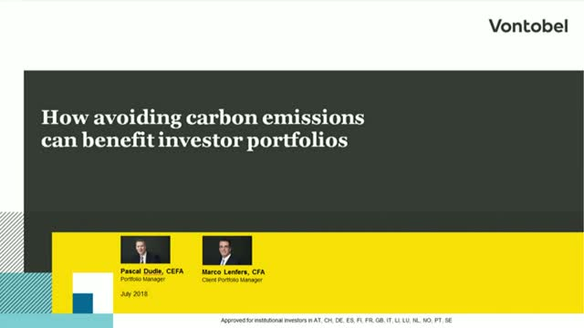 How avoiding carbon emissions can benefit investor portfolios