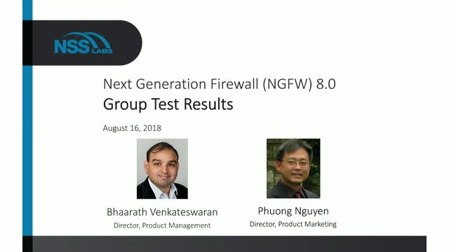 Next Generation Firewall (NGFW) 8.0 Group Test Results
