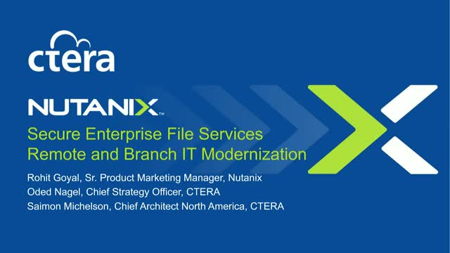 Secure Enterprise File Services | Remote & Branch IT Modernization
