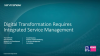 Digital Transformation Requires Integrated Service Management