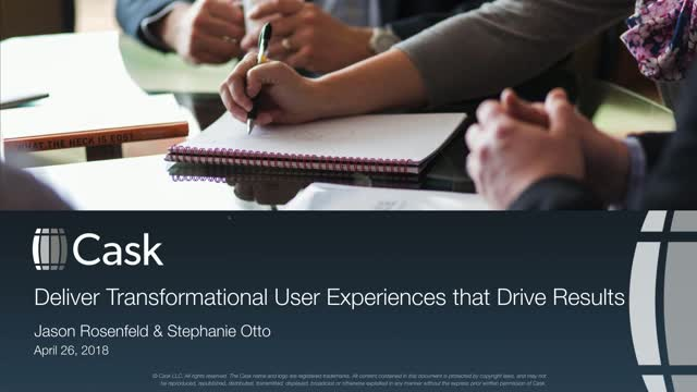 Delivering Transformational User Experiences that Drive Results