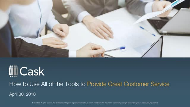 Using All of the Tools to Provide Great Customer Service