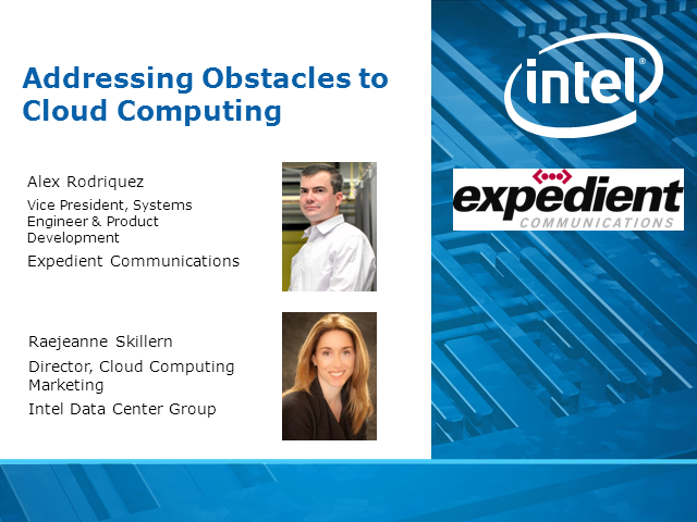 Addressing Obstacles to Cloud Computing
