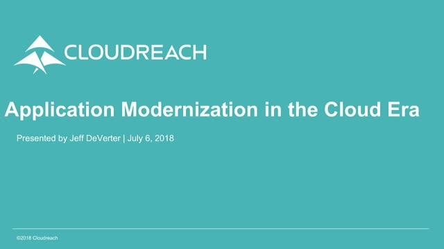 How to Modernize Applications in the Cloud Era