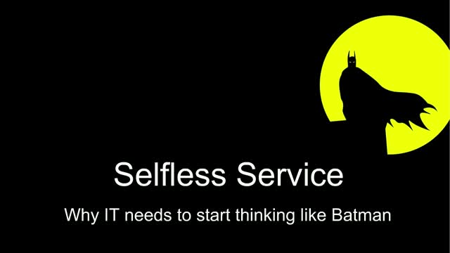 A new approach to IT Service Management: Selfless Service