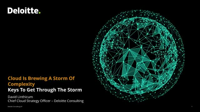 Cloud Is Brewing A Storm Of Complexity, Keys to Get Through The Storm