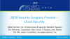 2018 Security Congress Preview – Cloud Security