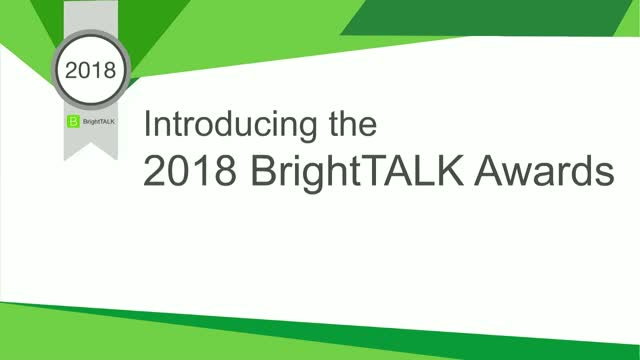 Introducing the 2018 BrightTALK Awards