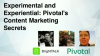 Experimental and Experiential: Pivotal's Content Marketing Secrets