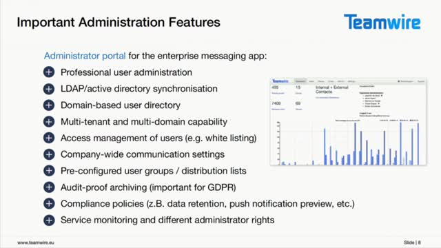 GDPR-compliant enterprise messaging instead of a whatsapp-problem