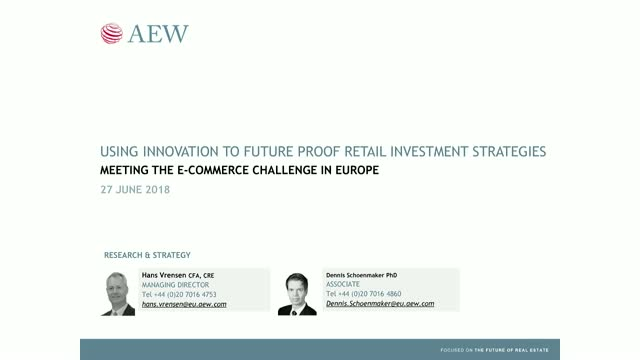 Using innovation to future proof retail investment strategies