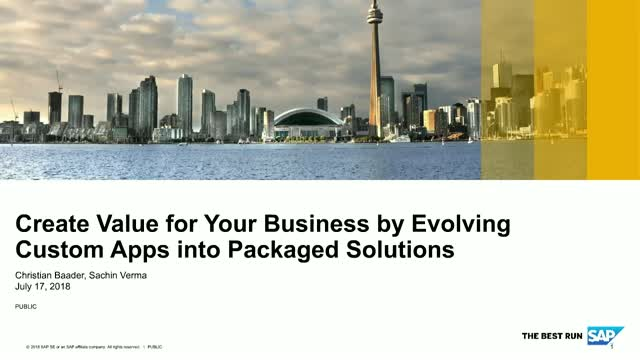 Create Value for Your Business by Evolving Custom Apps into Packaged Solutions