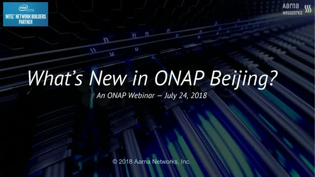 What's new in ONAP Beijing Release?