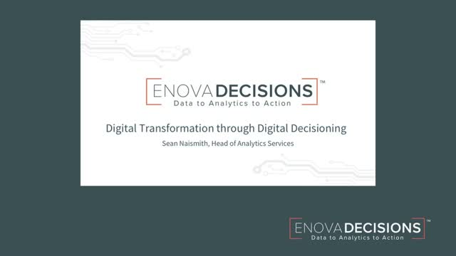 Digital Transformation Requires Digital Decisioning