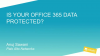 [Hebrew session] Is your Office 365 data protected?