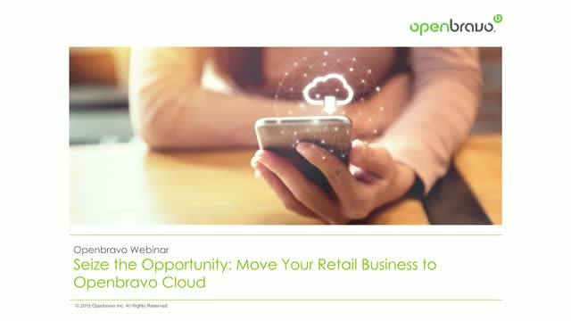 Seize the opportunity: move your retail business to Openbravo Cloud