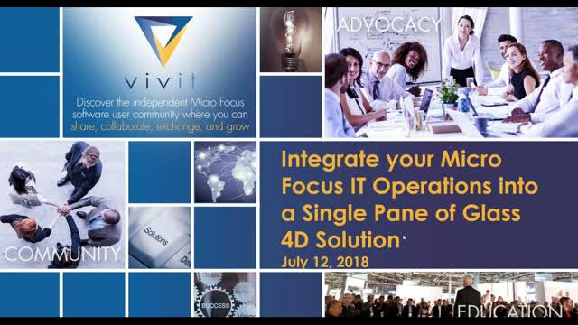 Integrate your Micro Focus IT Operations into a Single Pane of Glass 4D Solution
