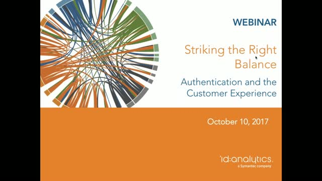 Striking the Right Balance: Authentication and the Customer Experience