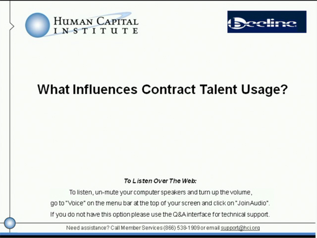 What Influences Contract Talent Usage?