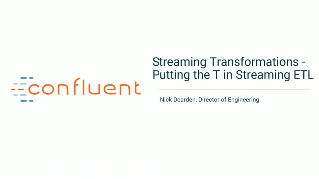 Part 3: Streaming Transformations - Putting the T in Streaming ETL